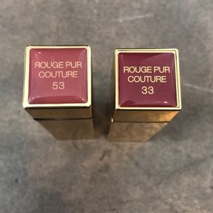 2 YSL Rouge Pur Couture used lipsticks